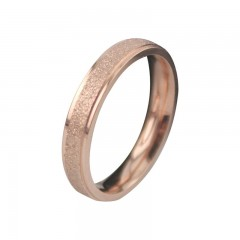 Couple Rings Party Jewelry For Men Women Wedding Rose Gold Matte Stars Rings Stainless Steel  Eng 6 women