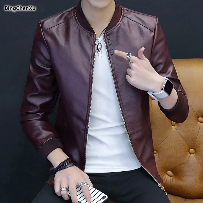 22c8a2eedce78 Red Leather Jacket Male Stylish Motorcycle Jacket Top Quality chaqueta  cuero hombre Brand Autumn  Product No  3022733. Item specifics  Seller ...