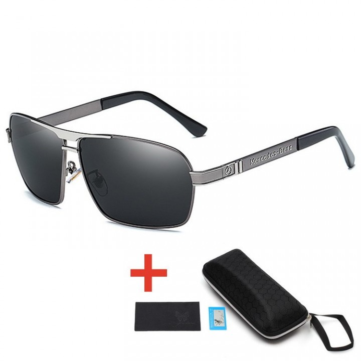 a0d0df54b3a2 Mens Vintage Square Sunglasses Polarized UV400 Lens Eyewear Accessories  Male Sun Glasses For Men