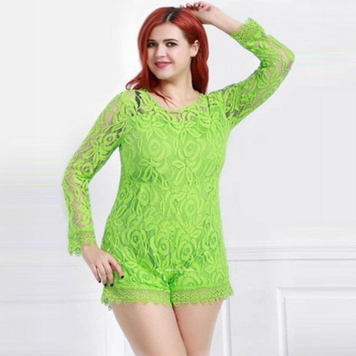 7cfca52a05635 Playsuits for Women Clubwear Lace Jumpsuits Plus Size Summer Playsuits Sexy  Rompers Jumpsuit Whit