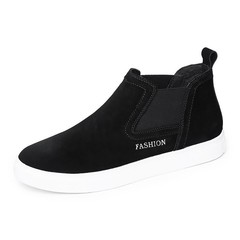 Mens chelsea boots Suede Leather Casual Shoes Male Fashion Walking Footwear Winter Shoes Fur Warm