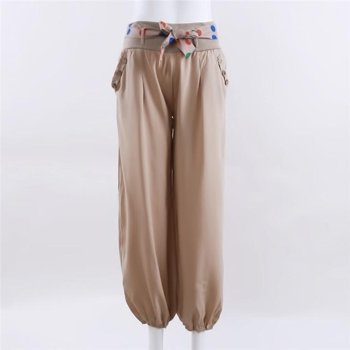 97deac3833 Fashion Plus Size Solid Color Casual Long Pant Loose Baggy Harem Pants  Women Trousers Wide Leg