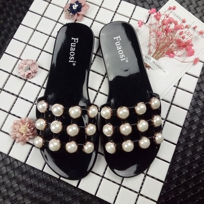 0d371ca228643 word drag female summer 2018 new fashion thick bottom non-slip pearl beach  sandals and slippers o  Product No  3067095. Item specifics  Seller ...