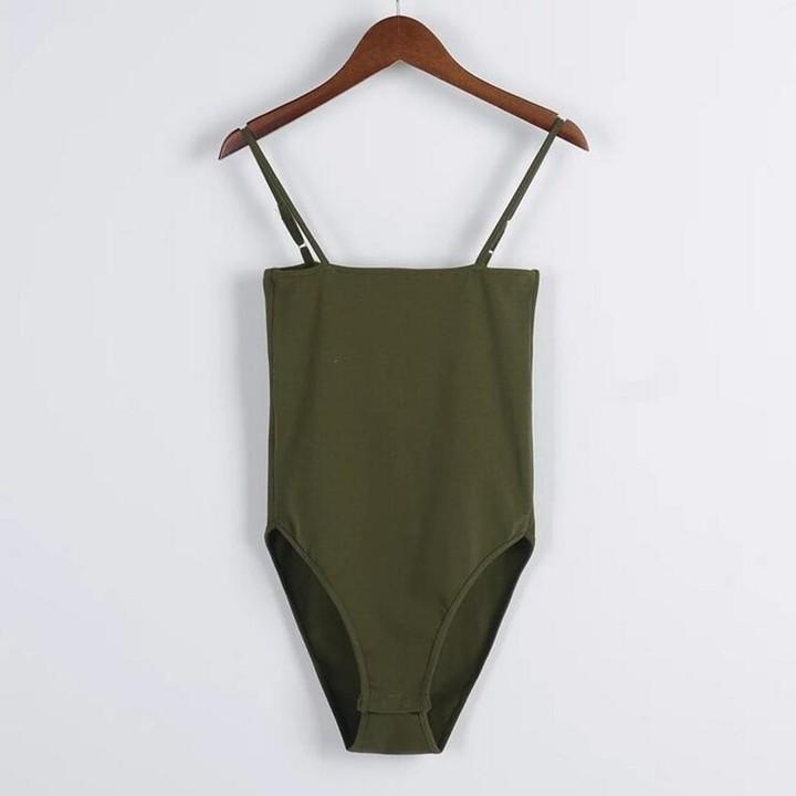 d612fdb68a9 Spaghetti Strap Backless fit Romper Body Siamese Bodysuit Slim Skinny Tight  Jumpsuit Undershirt