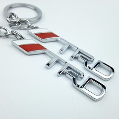 Fashion TRD Zinc Alloy Pendant Keychain Toyota Racing Development Car Logo Key Chains Key Holder