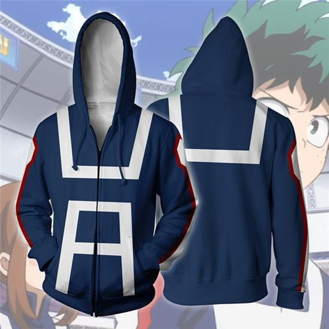48172eec5a Harajuku Hot Anime My hero academy Hoodie Sweatshirt For Men women 3D Print  Hoodies Streetwear Ca