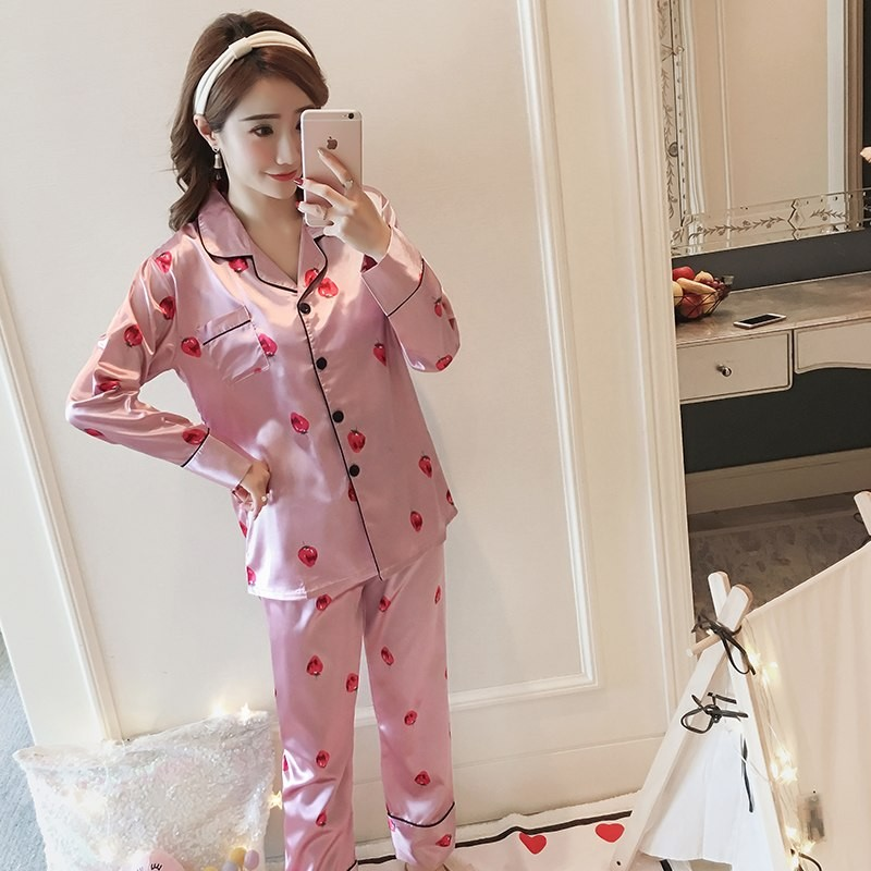 0ffc6d821a autumn pink traditional chinese women silk pajamas set embroidery flower pyjamas  suit home wear s  Product No  3090295. Item specifics  Seller ...