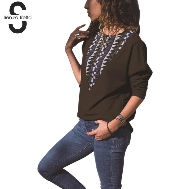 b6c694935322ae Fretta Autumn Winter Long Sleeve T shirt Women Tops Women T-shirt O ...