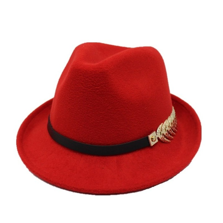 abe526262640b0 Seioum European US Roll Narrow Brim Wool Felt Fedora Hat for Men Women  Trend Unisex Jazz