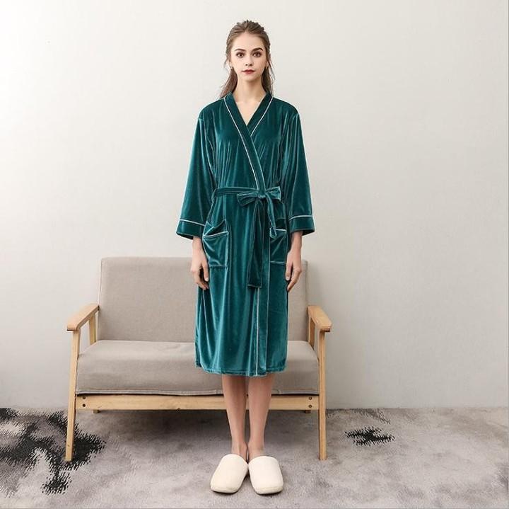 Lovers Soft as Silk Fall Winter Bathrobe Men And Women Kimono Bath Robe  Femme Robes Mens 467d4229f