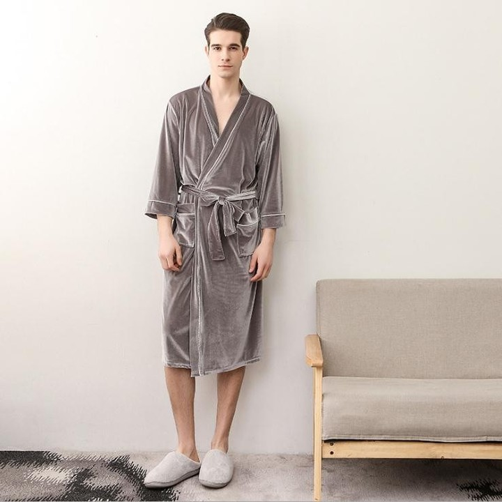 f00da03d2f Lovers Soft as Silk Fall Winter Bathrobe Men And Women Kimono Bath Robe  Femme Robes Mens