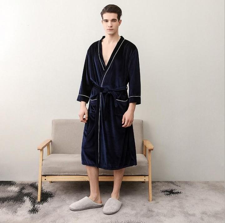 Winter Lovers Bathrobe New Men Women Long Thickening Kimono Bath Robe Male Dressing Gown Female Flannel Robes Plus Size Robes Underwear & Sleepwears