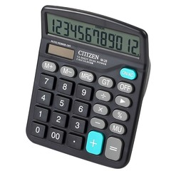 Desktop Calculator Office Standard Function Solar Calculator Black
