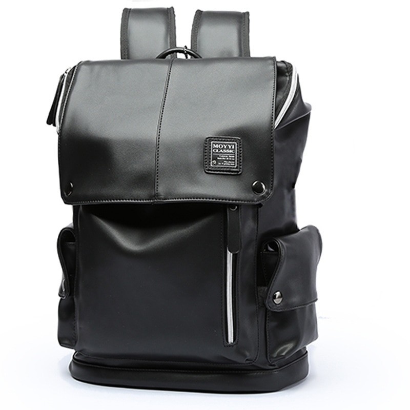 ead28c1425 Quality Waterproof Backpack For Men PU Leather Backpack With USB ...