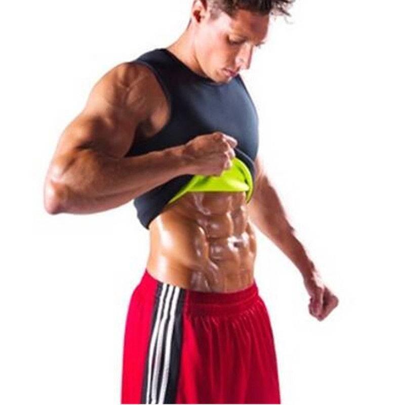 e25c6b37d8 Item specifics  Seller SKU RmJJuWwsA1L  Brand  2018 Men Gym Fitness  Neoprene Vest Body Shapers Ultra Thin Elastic Sweatshirt Sports Top  Slimming Waist ...