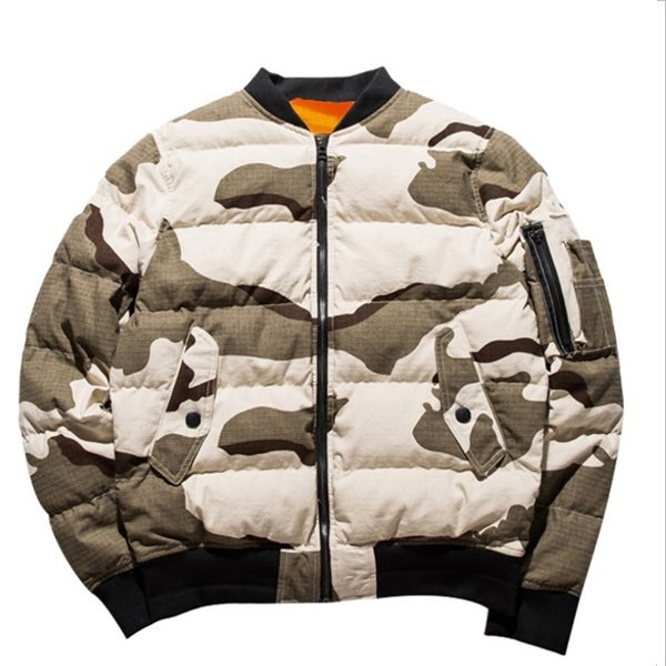 751c8c486 quality wholesale custom outdoor camo printed bomber mens winter jacket  with side pocket
