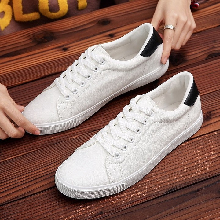 06e9b0ab651 Men Fashion Sneakers White Canvas Shoes Summer lace-up Casual Shoes ...