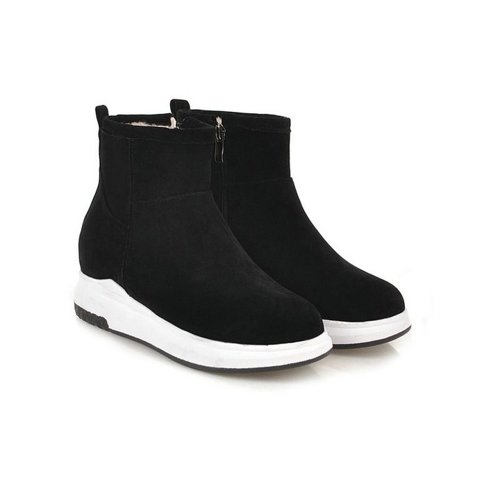 6156d6f131a48 Women ankle Snow Boots med heels Waterproof Winter Warm Shoes Casual Plush  ankle Boots Female Plu