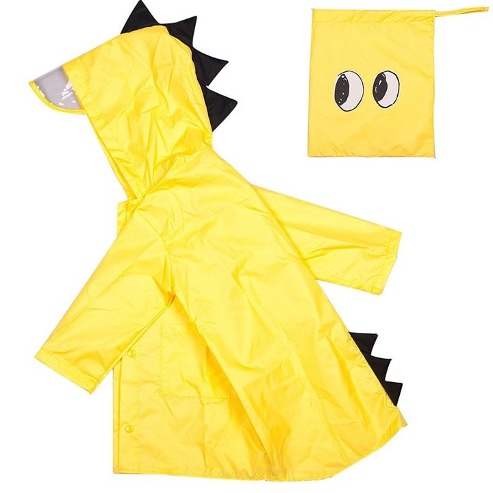 2ab57e254b1 Cute Small Dinosaur Waterproof Polyester Rain Coat Boy Children Girls  Windproof Poncho Kindergart
