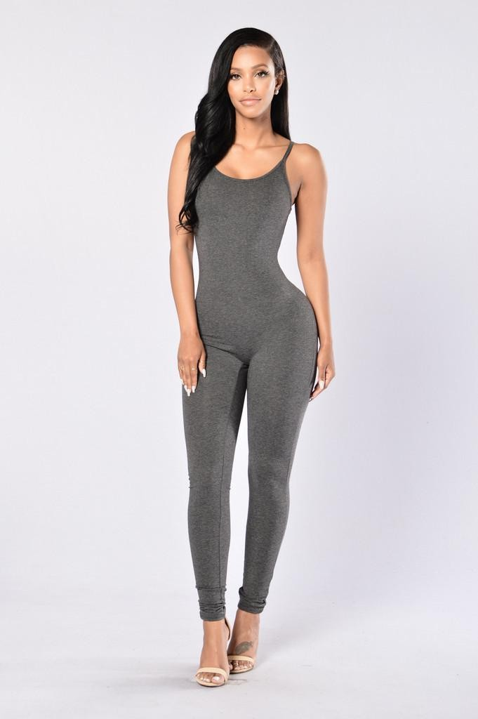 fd69412b3698 New European And American Womens Fashion Sexy Jumpsuit Ladies Solid Color  Tight-fitting Halter Sl