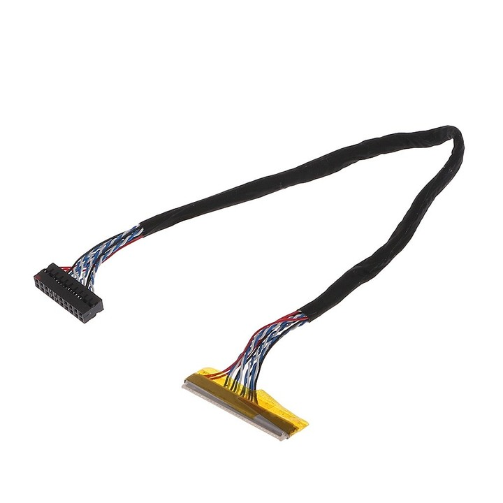 FIX 30 Pin 1ch 6bit LVDS Cable 26cm For 14.1-15.6inch LCD Panel