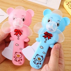 Bear Shaped Portable Hand pressure Fan Handheld Mini Game Fan Cooler 13.5cm*6cm