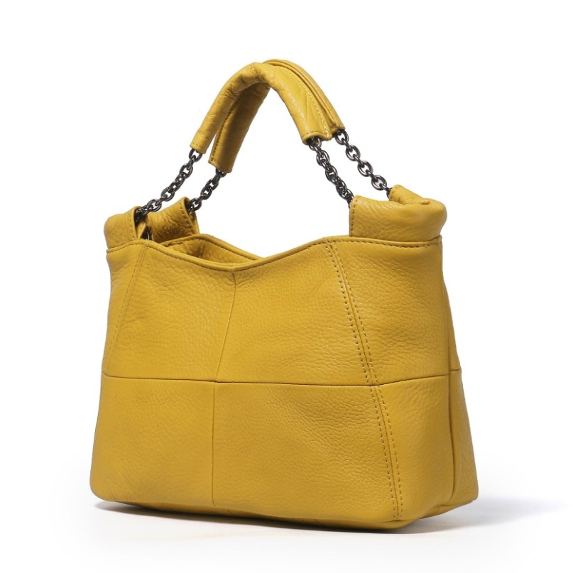 8a92ad8e9a18 Sale Natural Cowhide Genuine Leather Women Handbag First Layer Of ...