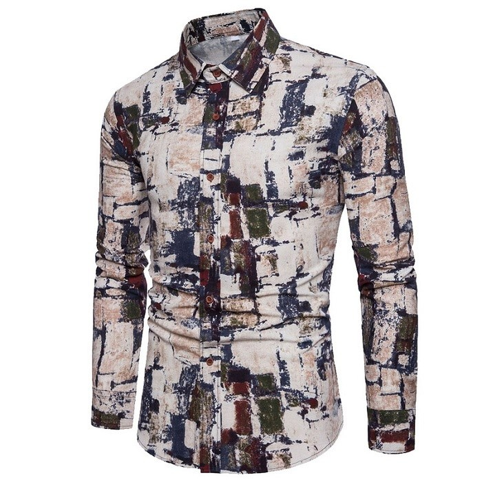 786c0ee73 ... Print Dress Shirts Long Sleeve Mens Vintage Retro Shirt: Product No:  3251329. Item specifics: Seller SKU:PgkIItUsspV: Brand: