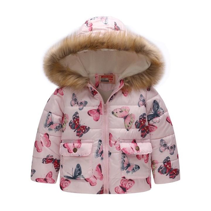 581adff23072 Coat Baby Girls Boys Fur Hooded Coats Long Sleeve Warm Pocket Jacket ...