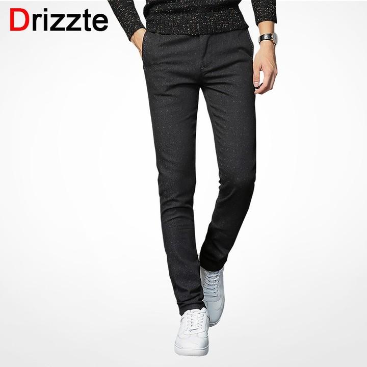 e932f50efe98 Mens Slack Suit Pants Casual Slacks Slim Fit Dress Pants for Men Black  Business