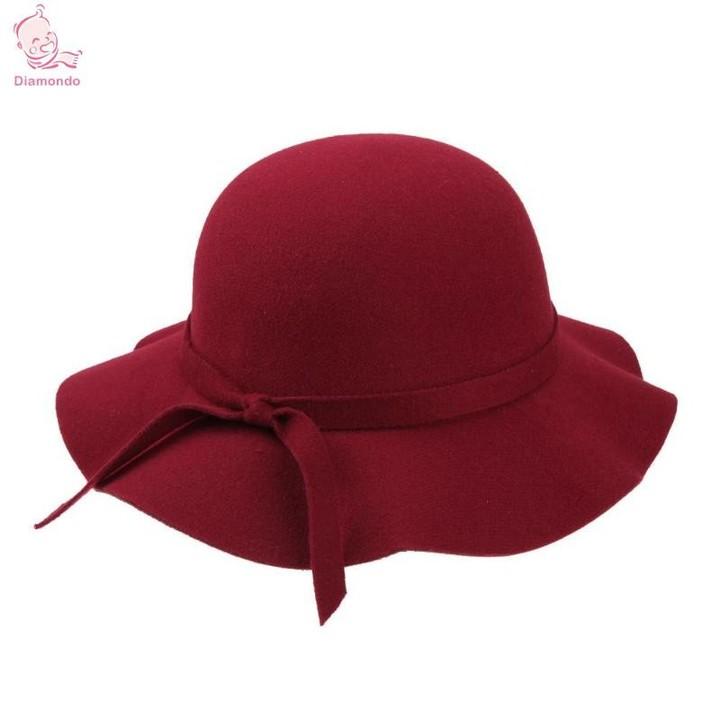 4dce097de Kids Hats Wide Brim Fedora Wool Hat Sun Beach Cap Chapeu Sombrero Vintage  Hats Girls Black Red Wi