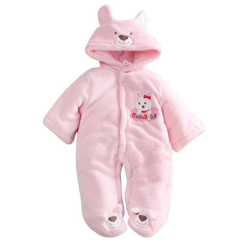 ad5c7ec26 Baby Rompers Cartoon Hooded Winter Baby Clothing Thick Cotton Baby ...