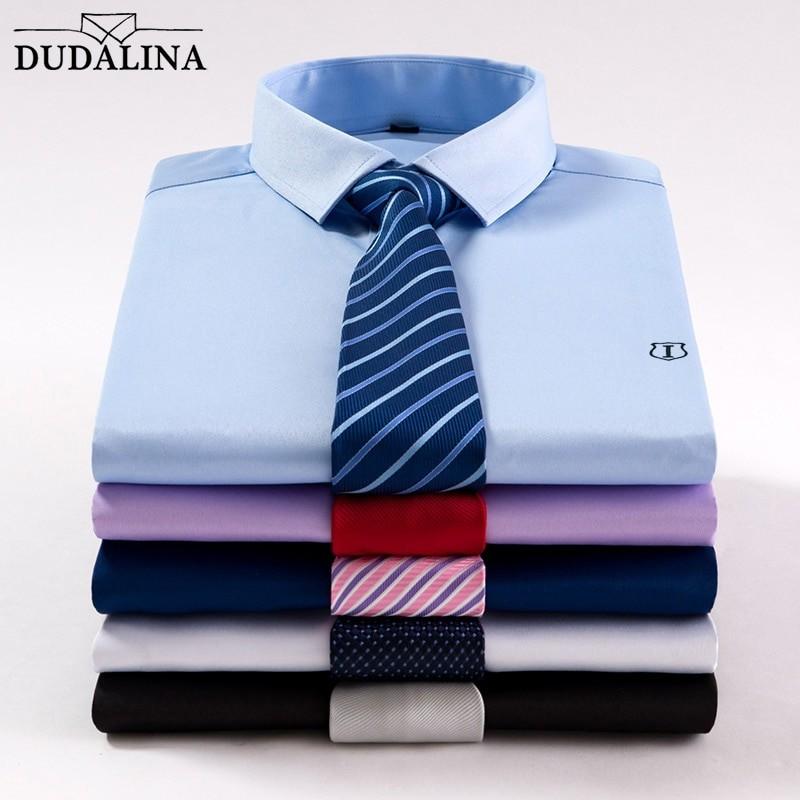 e0a75cad9b DUDALINA Shirt Short Mens Summer Smart Casual Turn-down Collar Shirt ...