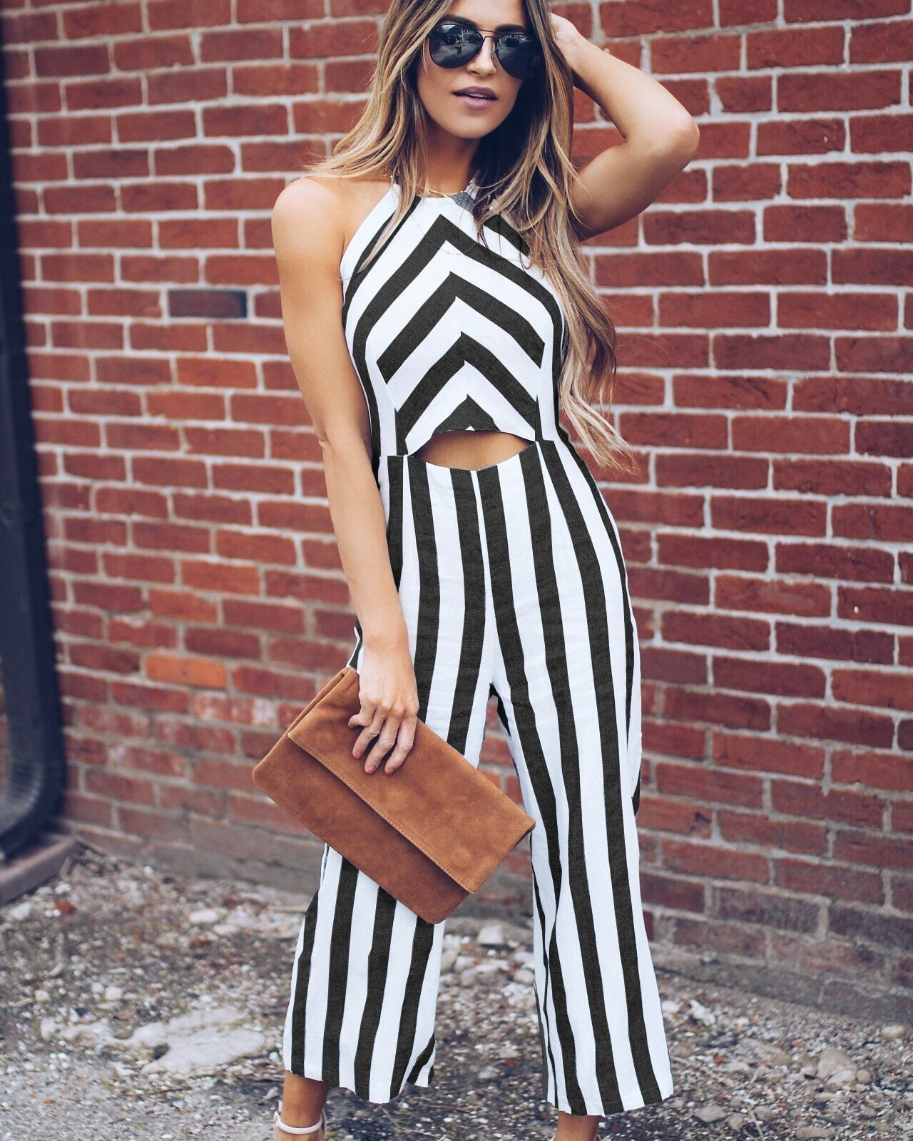 36894a1b0ec Summer Fashion Women Backless Halter Jumpsuits Hollow Out Romper ...