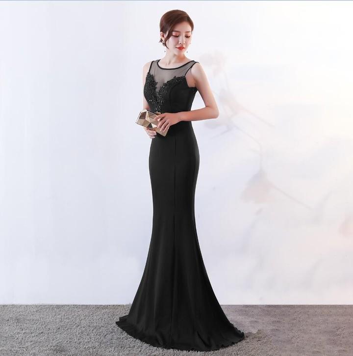 de20dcb44fbc Mermaid Evening Dresses Sheer Neck 2018 Elegant Women Formal Night Wear  Prom Dress Vestidoe De Fe