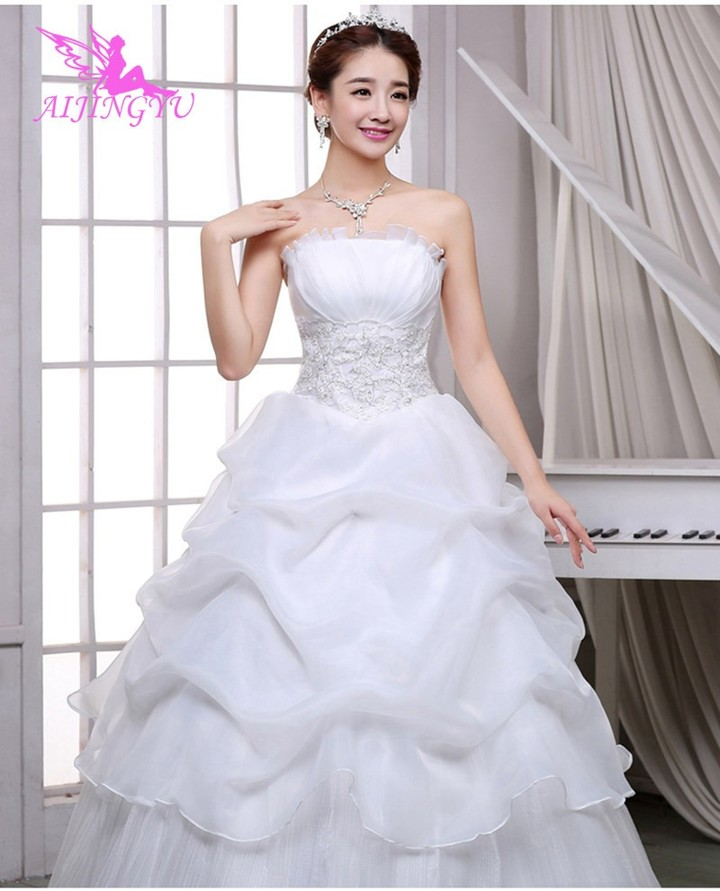 2018 floor length free shipping new hot selling cheap ball gown lace up  back formal bride d386bdcd323f