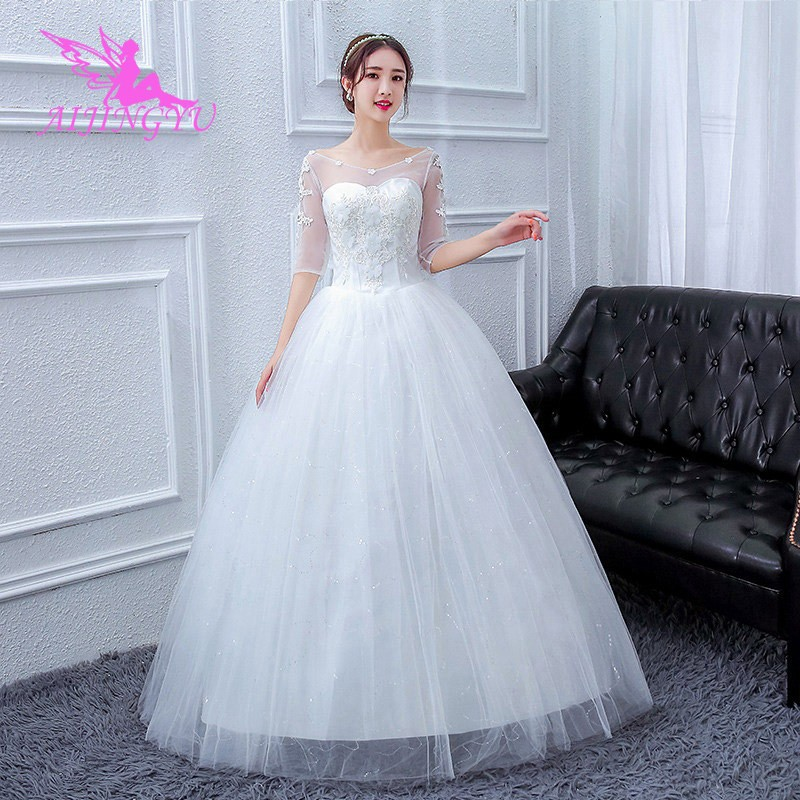 c80d1a9eca 2018 marriage free shipping new hot selling cheap ball gown lace up back  formal bride dresses wed