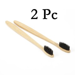 PC Colorful Head Bamboo Toothbrush Wholesale Environment Wooden Rainbow Bamboo Toothbrush Oral Ca