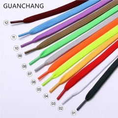 Quality Simple Sport Canvas Shoelaces Shoelaces Flat Shape 100cm Black White Green Yellow Red Sho