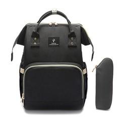 USB Mummy Bag Backpack WaterProof Baby Diaper Bag Maternity Carry Large Capacity Bolsa Luiertas B black one size