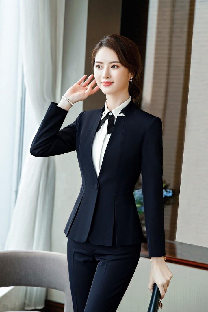 2baa31c794 Korean version of the professional wear womens suit hotel beauty salon  overalls fashion gap colla