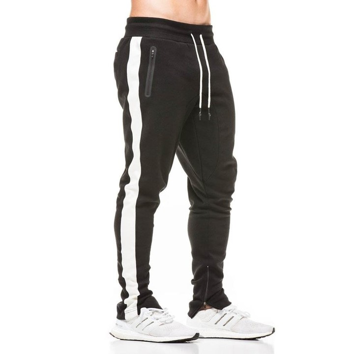 a51340358 2018 New Spring Jogger Pants Men Cotton Patchwork Sweatpants Bottom Fitted  Sweat Pants Active Ca
