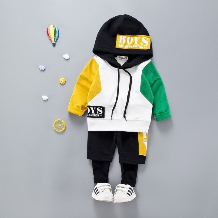 9a37a5854a646 Baby Boys Hooded Clothes Set For Casual 2018 New Spring Autumn Childrens  Clothing Suit 1 2