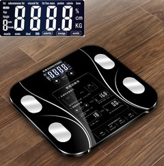Touch button Bathroom Weight Scale lcd Smart Body Balance Electronic Scales Clever bmi Body Fat L Black One Size