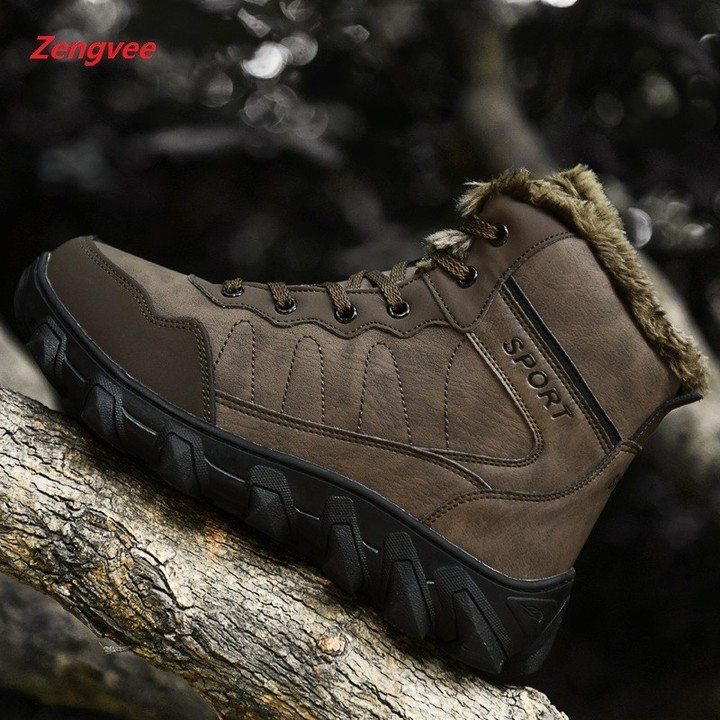 bc4239383 Man Sneakers Keep Warm Trend Male Shoes Men Fashion Mens Boots Chaussures  De Securite Homme Plus