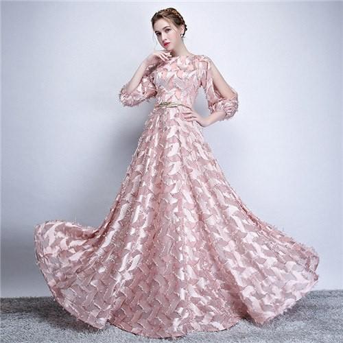 8d506614c5 Yiiya Evening Dresses 2018 Three Quarter Sleeve Flower Fashion Designer Floor  length Elegant Form  Product No  5927178. Item specifics  Seller ...