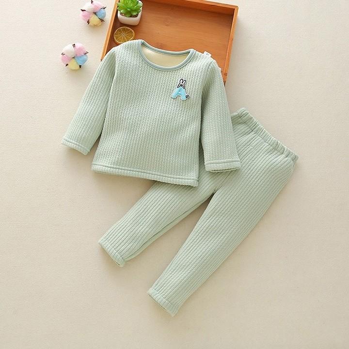 165ecf5bf Children Clothing Set Fleece Baby Bottoms Thicken Thermal Underwear ...