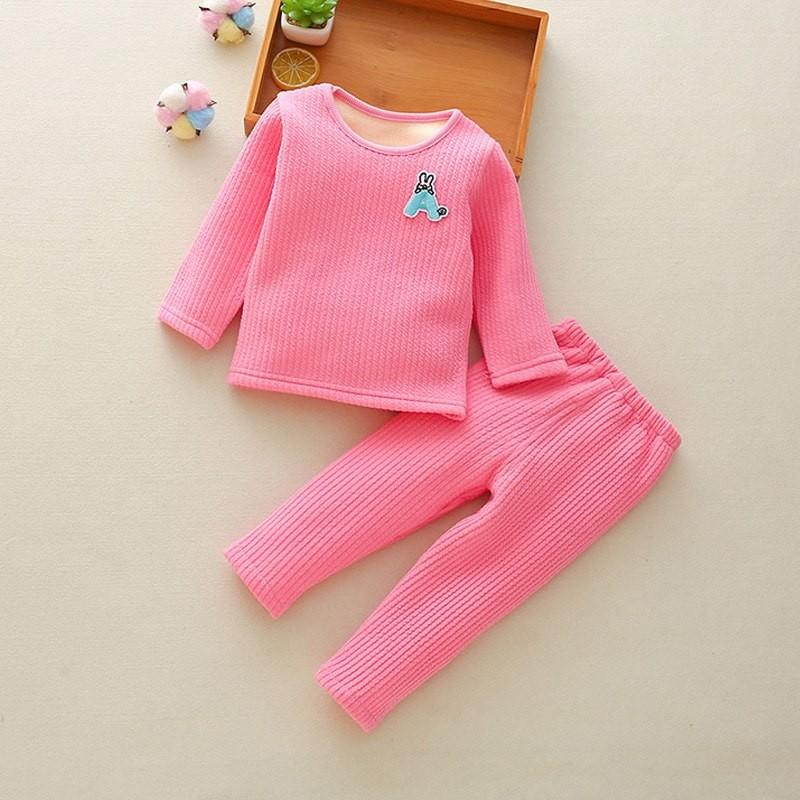a521f70a1 Children Clothing Set Fleece Baby Bottoms Thicken Thermal Underwear ...