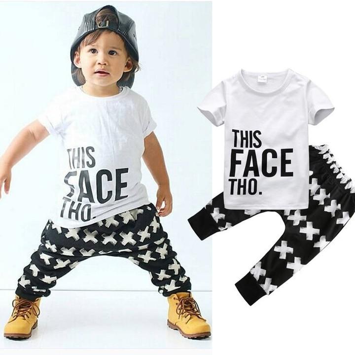49fb5b59b Baby Boys Girls Clothes Set T-shirt Tops Long Pants 2PCS Outfits 0 ...