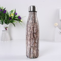 Flask for water bicycle Stainless Steel Kettle Vacuum Marble Texture Flask Water Bottle for outdo